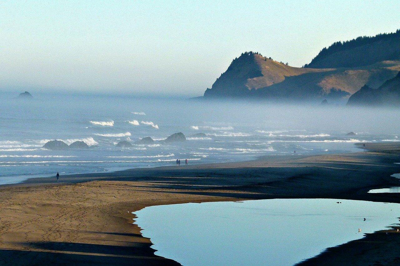 coast, pacific, shoreline