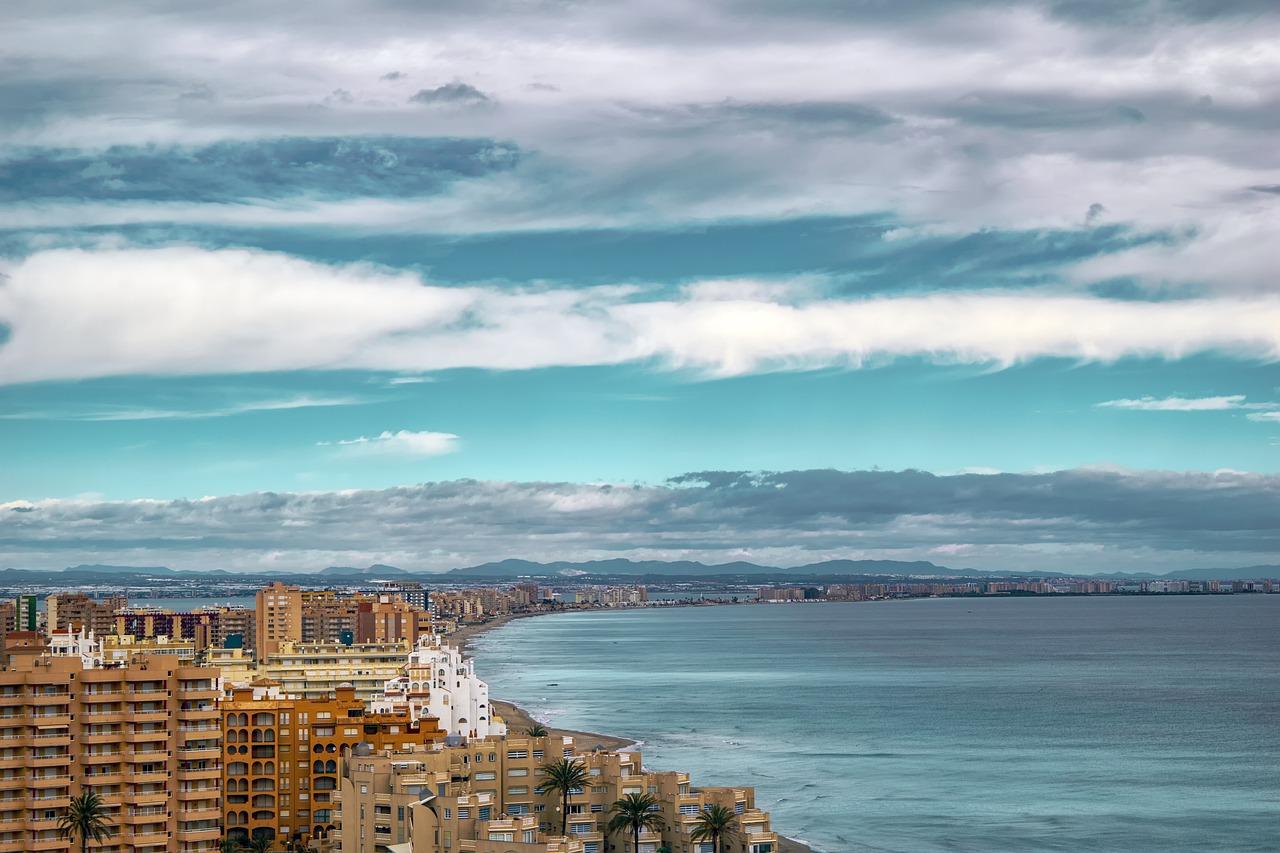 landscape, people, sea