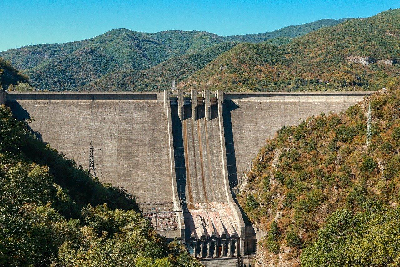 wall, timber, dam